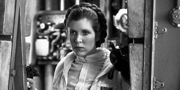Carrie Fisher from the hit movie, Star Wars