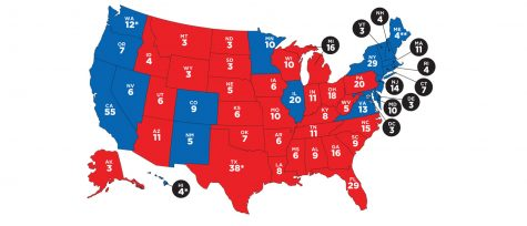 A visual representation of the Electoral College, from classroommagazines.scholastic.com