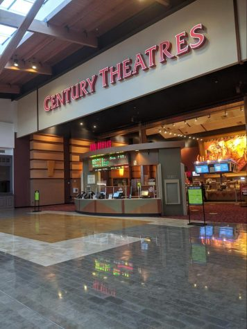 No employees to be seen upfront, to limit contact at Century Theatres