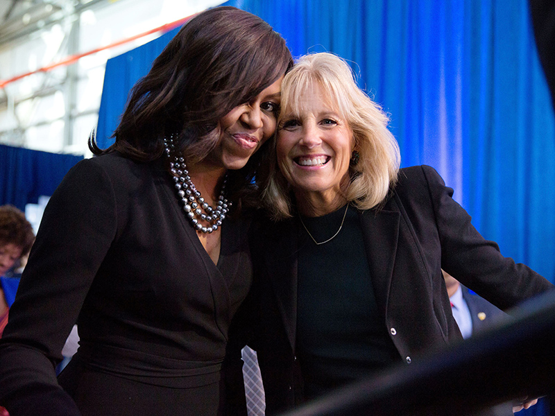 The former and next First Lady. Image by Pete Souza, from people.com.