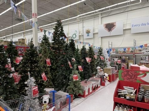 Walking down the Christmas aisle at a local Walmart