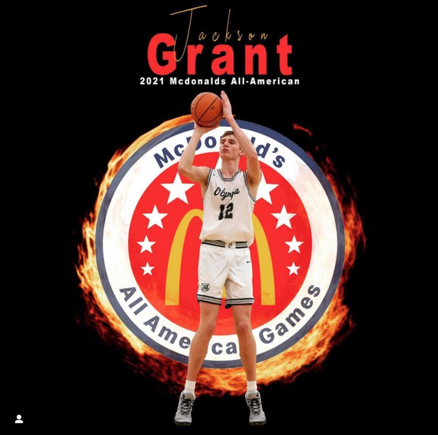 Jackson Grant's McDonald's All American Games award.