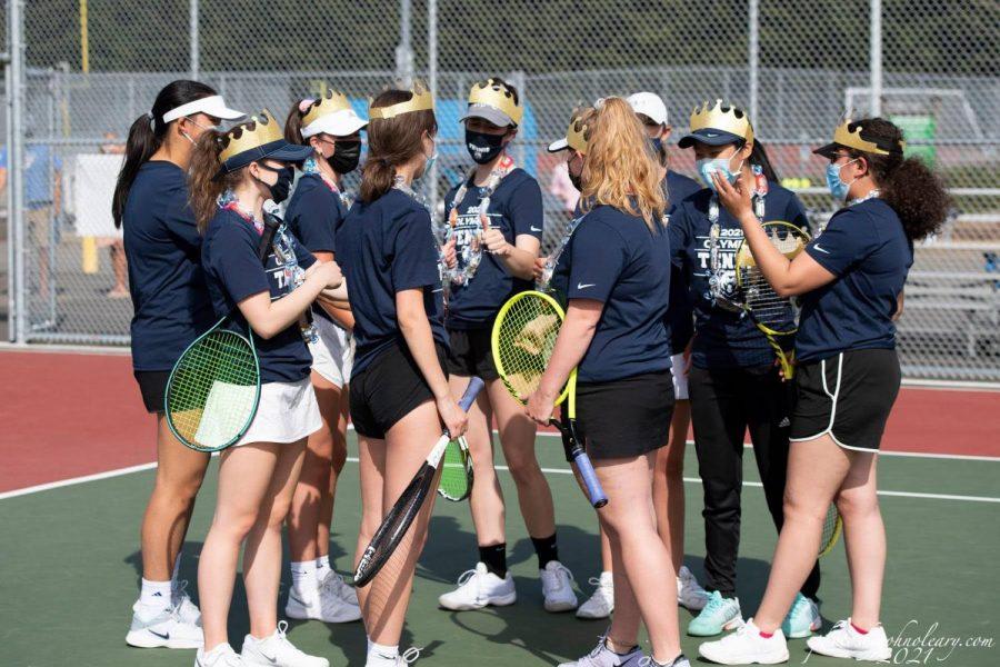 The Varsity Tennis team, photo by John OLeary.